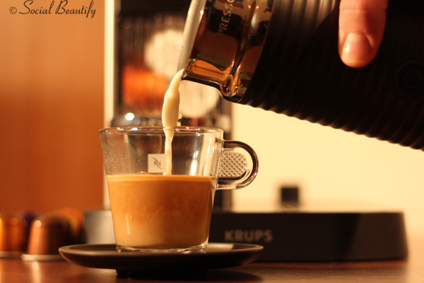 Making coffee with Nespresso