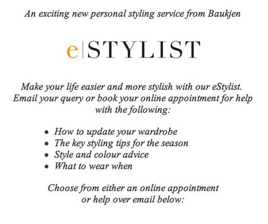 eStylist page